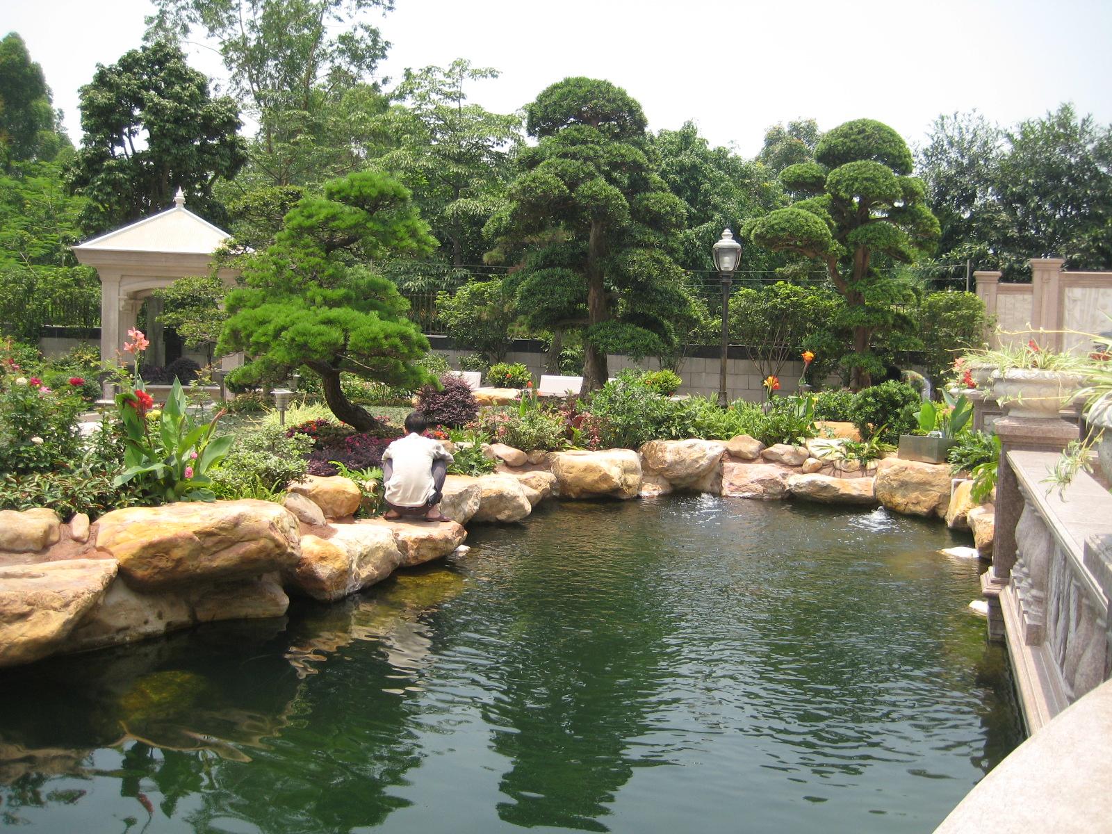 鱼池设计 景观鱼池过滤系统设计